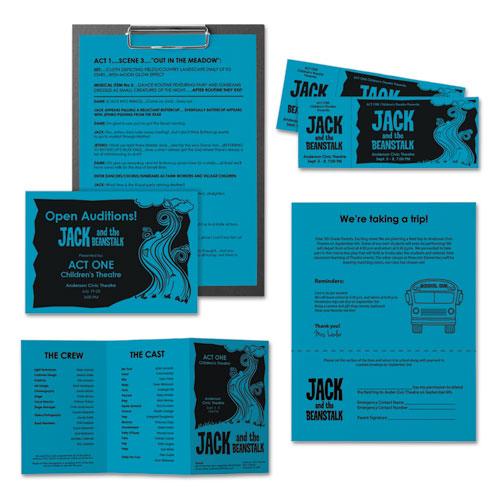 Color Paper, 24 lb, 8.5 x 11, Celestial Blue, 500 Sheets/Ream. Picture 2