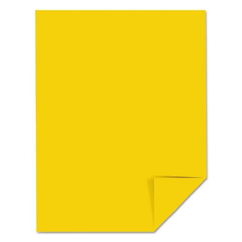 Color Cardstock, 65 lb, 8.5 x 11, Sunburst Yellow, 250/Pack. Picture 3