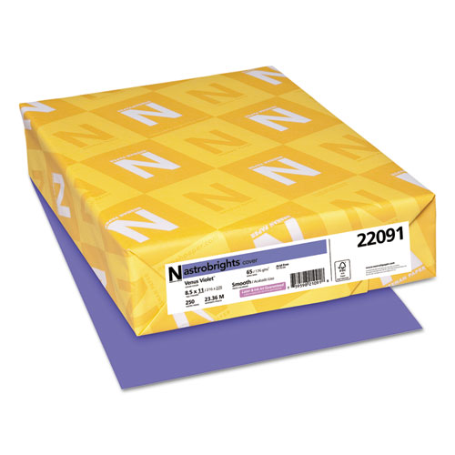 Color Cardstock, 65 lb, 8.5 x 11, Venus Violet, 250/Pack. Picture 1