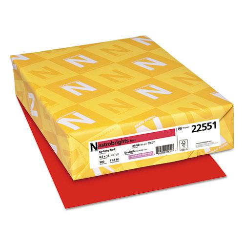 Color Paper, 24 lb, 8.5 x 11, Re-Entry Red, 500 Sheets/Ream. Picture 1