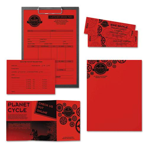 Color Paper, 24 lb, 8.5 x 11, Re-Entry Red, 500 Sheets/Ream. Picture 3