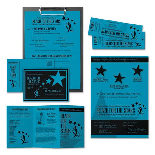 Color Cardstock, 65 lb, 8.5 x 11, Celestial Blue, 250/Pack. Picture 3