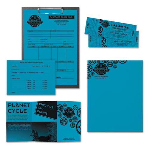 Color Paper, 24 lb, 8.5 x 11, Celestial Blue, 500 Sheets/Ream. Picture 3