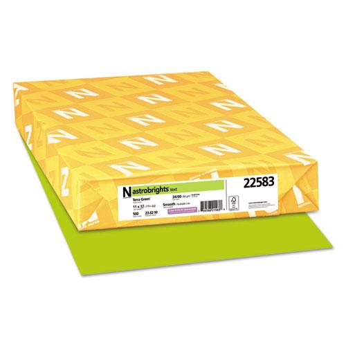 Color Paper, 24 lb, 11 x 17, Terra Green, 500/Ream. Picture 1