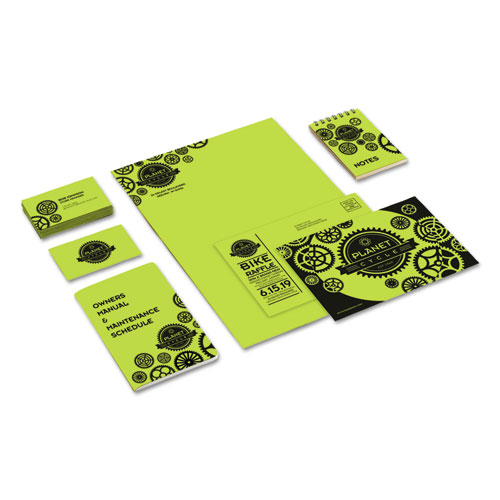 Color Cardstock, 65 lb, 8.5 x 11, Vulcan Green, 250/Pack. Picture 3