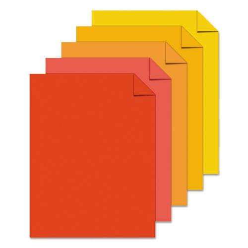 "Color Paper - ""Warm"" Assortment, 24lb, 8.5 x 11, Assorted Warm Colors, 500/Ream. Picture 4"
