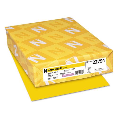 Color Cardstock, 65 lb, 8.5 x 11, Sunburst Yellow, 250/Pack. Picture 1
