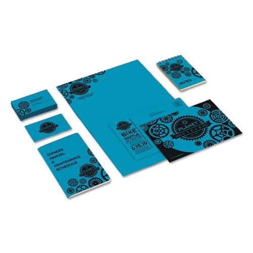 Color Cardstock, 65 lb, 8.5 x 11, Celestial Blue, 250/Pack. Picture 4