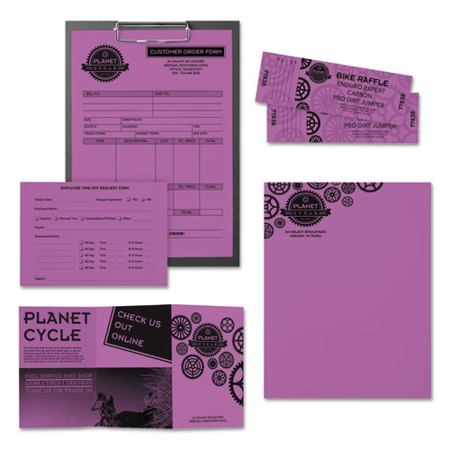 Color Paper, 24 lb, 8.5 x 11, Planetary Purple, 500 Sheets/Ream. Picture 4