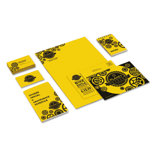 Color Cardstock, 65 lb, 8.5 x 11, Sunburst Yellow, 250/Pack. Picture 4