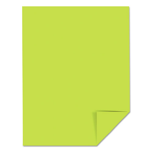 Color Cardstock, 65 lb, 8.5 x 11, Vulcan Green, 250/Pack. Picture 4