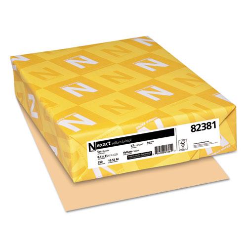 Exact Vellum Bristol Cover Stock, 67lb, 8.5 x 11, 250/Pack. Picture 1