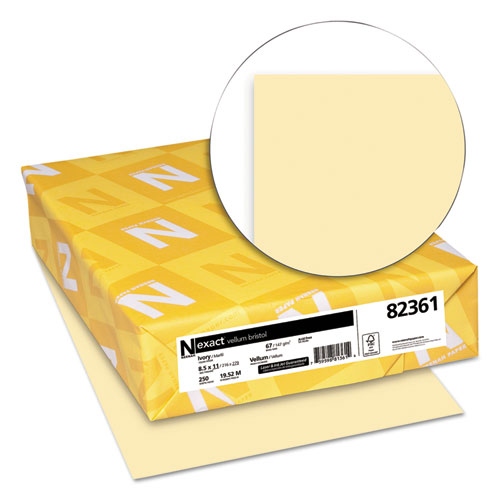 Exact Vellum Bristol Cover Stock, 67lb, 8.5 x 11, 250/Pack. Picture 2