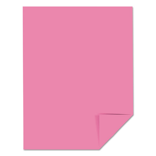 Color Cardstock, 65 lb, 8.5 x 11, Pulsar Pink, 250/Pack. Picture 4