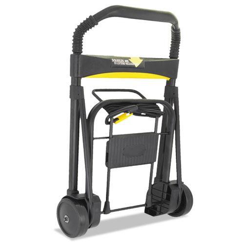 Ultra-Lite Folding Cart, 250 lb Capacity, 11 x 13.25 Platform, Black. Picture 3