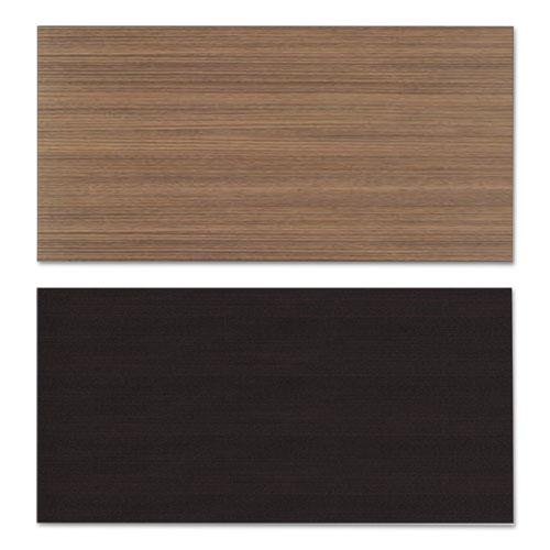 Reversible Laminate Table Top, Rectangular, 47 5/8w x 23 5/8d, Espresso/Walnut. Picture 2