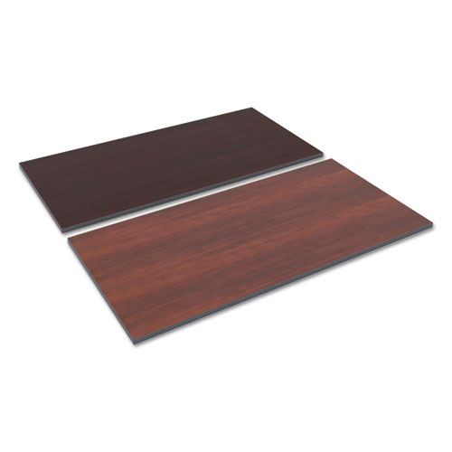 Reversible Laminate Table Top, Rectangular, 59 3/8w x 29 1/2,Med Cherry/Mahogany. Picture 1