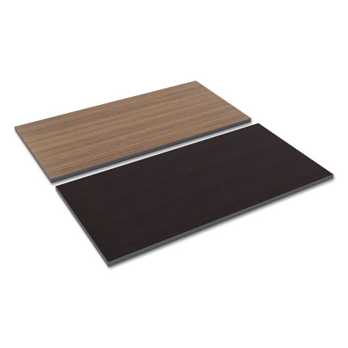 Reversible Laminate Table Top, Rectangular, 47 5/8w x 23 5/8d, Espresso/Walnut. Picture 1