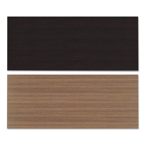 Reversible Laminate Table Top, Rectangular, 71 1/2w x 29 1/2d, Espresso/Walnut. Picture 2
