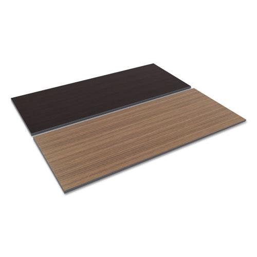 Reversible Laminate Table Top, Rectangular, 71 1/2w x 29 1/2d, Espresso/Walnut. Picture 1