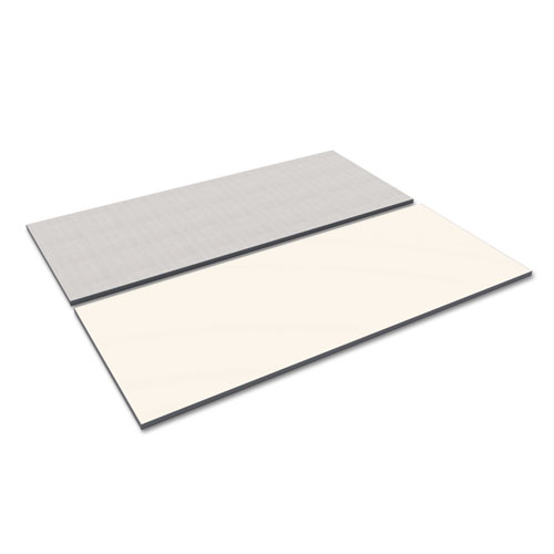 Reversible Laminate Table Top, Rectangular, 71 1/2w x 29 1/2d, White/Gray. Picture 1