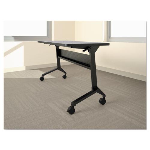 Flip-n-Go Table Base, 58 3/4w x 21 1/4d x 27 7/8h, Black. Picture 1