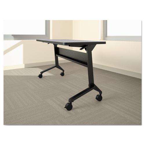 Flip-n-Go Table Base, 46 7/8w x 21 1/4d x 27 7/8h, Black. Picture 1
