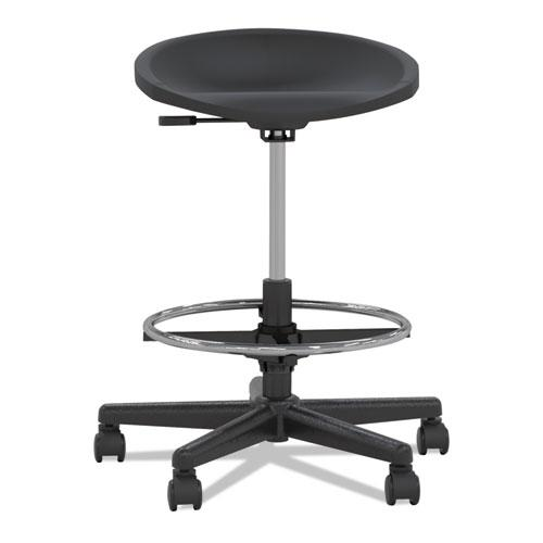 Tech Stool Black Black Frame