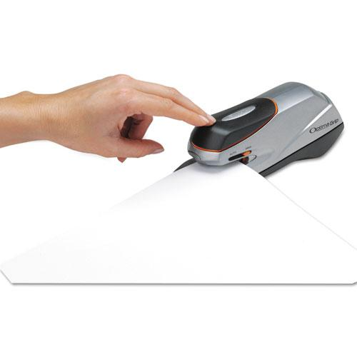 Optima Grip Electric Stapler, 20-Sheet Capacity, Black/Silver. Picture 7
