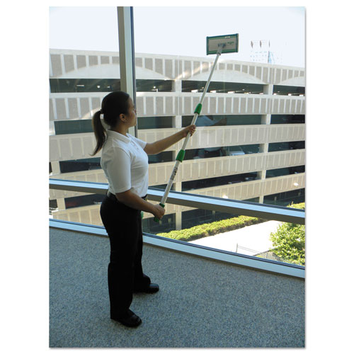 """Indoor Window Cleaning Kit, Aluminum, 72"""" Extension Pole With 8"""" Pad Holder. Picture 4"""