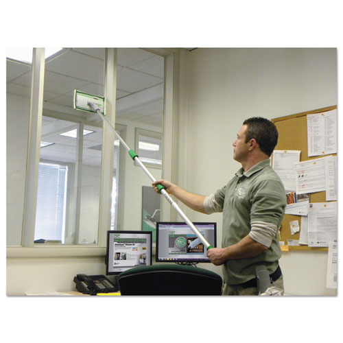 """Indoor Window Cleaning Kit, Aluminum, 72"""" Extension Pole With 8"""" Pad Holder. Picture 3"""