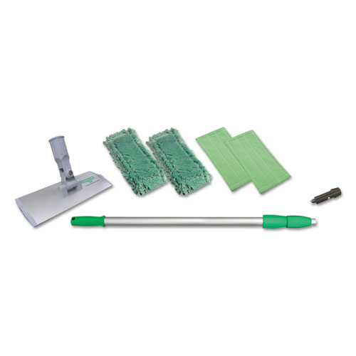 """Indoor Window Cleaning Kit, Aluminum, 72"""" Extension Pole, 8"""" Pad Holder. Picture 1"""