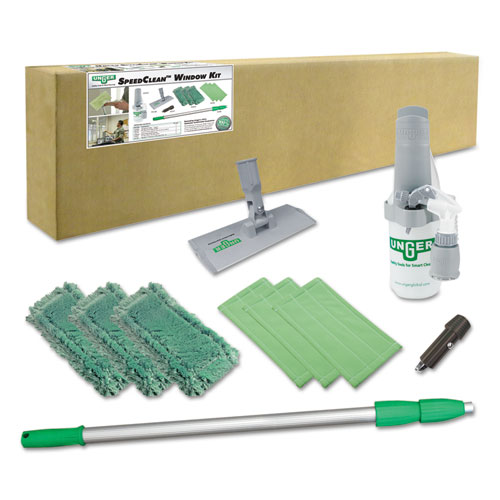 """Indoor Window Cleaning Kit, Aluminum, 72"""" Extension Pole With 8"""" Pad Holder. Picture 2"""