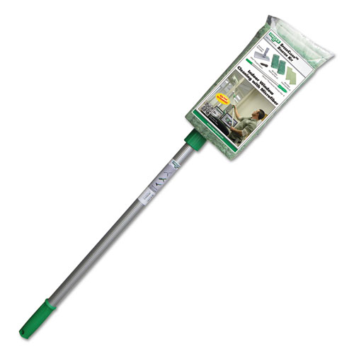 """Indoor Window Cleaning Kit, Aluminum, 72"""" Extension Pole, 8"""" Pad Holder. Picture 2"""
