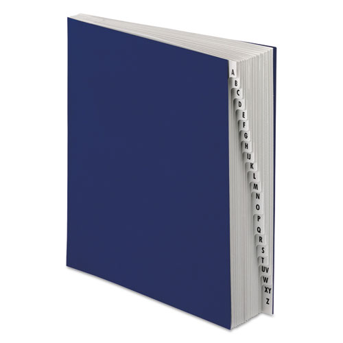 Expanding Desk File, 20 Dividers, Alpha, Letter-Size, Dark Blue Cover. Picture 1