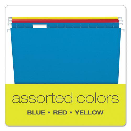 Colored Hanging Folders, Legal Size, 1/5-Cut Tab, Assorted, 25/Box. Picture 3