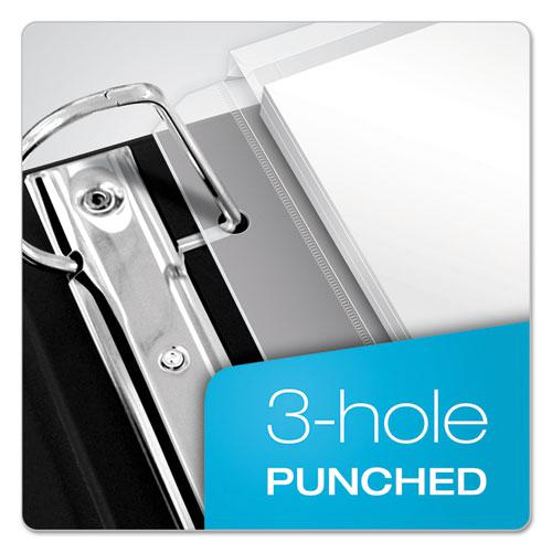 Expanding Zipper Binder Pockets, 11 x 8 1/2, Clear, 3/Pack. Picture 6