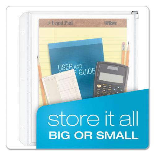 Expanding Zipper Binder Pockets, 11 x 8 1/2, Clear, 3/Pack. Picture 2