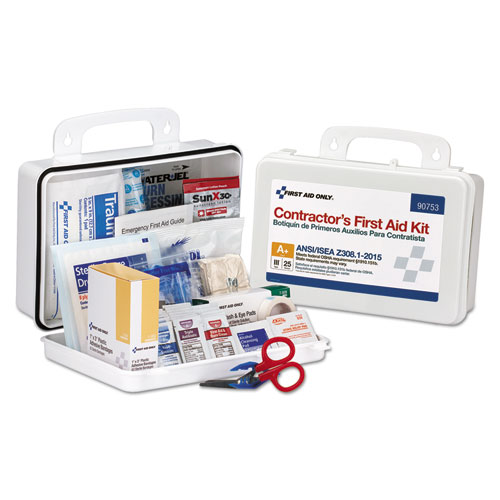 Contractor ANSI Class A+ First Aid Kit for 25 People, 128 Pieces. Picture 1