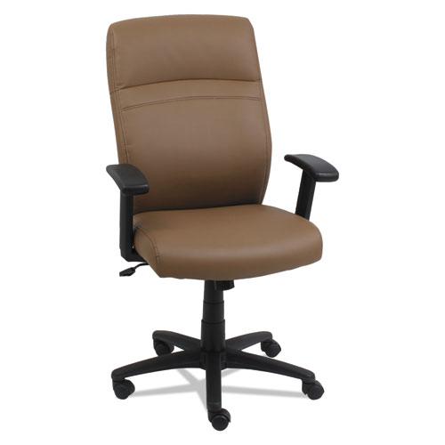 High Back Swivel Tilt Chair Taupe Black