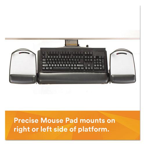 Knob Adjust Keyboard Tray With Highly Adjustable Platform, Black. Picture 5