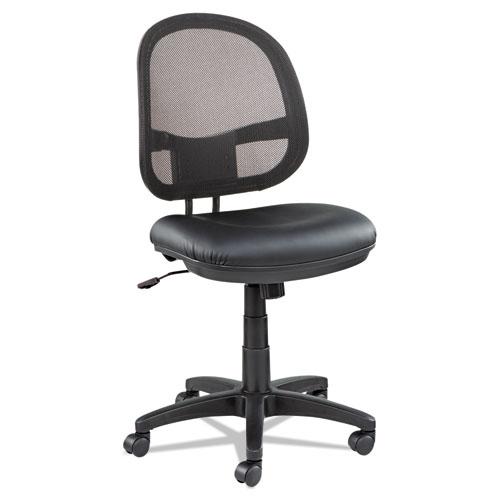 Alera Interval Series Swivel Tilt Mesh Chair Black Leather