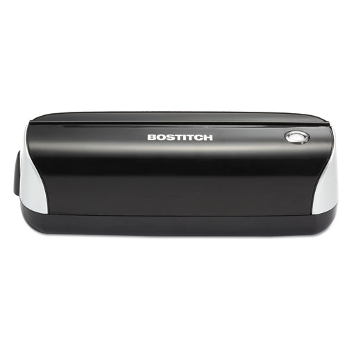 12-Sheet Electric Three-Hole Punch, Black. Picture 1