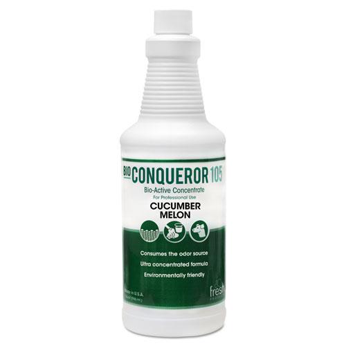 Bio Conqueror 105 Enzymatic Odor Counteractant Concentrate, Cucumber Melon, 1 qt, 12/Carton. Picture 1