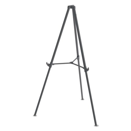 """Quantum Heavy Duty Display Easel, 35.62"""" - 61.22""""H, Plastic, Black. Picture 1"""