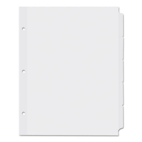 Self-Tab Index Dividers, 5-Tab, 11 x 8.5, White, 36 Sets. Picture 1