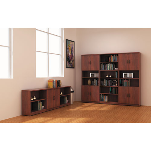 Alera Valencia Series Bookcase, Two-Shelf, 31 3/4w x 14d x 29 1/2h, Med Cherry. Picture 3