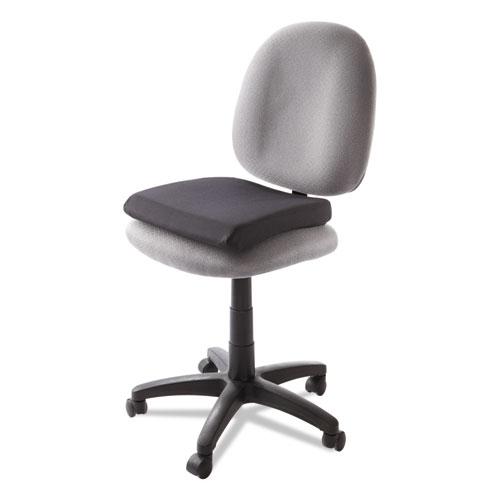 Memory Foam Seat Rest, 13.5w x 14.5d x 2h, Black. Picture 2