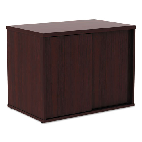 Alera Open Office Low Storage Cab Cred, 29 1/2w x 19 1/8d x 22 7/8h, Mahogany. Picture 2