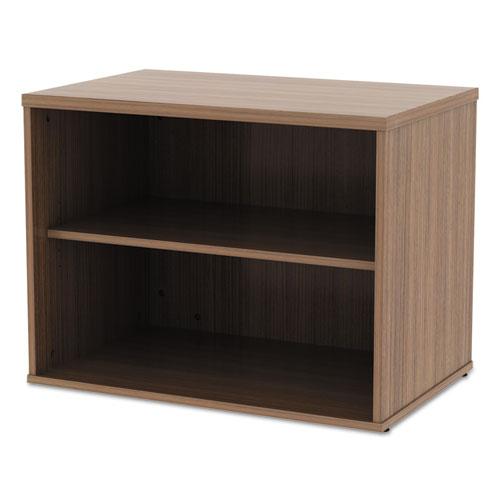 Alera Open Office Low Storage Cabinet Credenza, 29 1/2 x 19 1/8x 22 7/8, Walnut. Picture 7